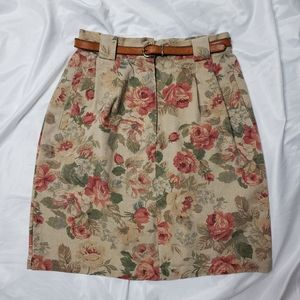 ABERCROMBIE & FITCH Cottagecore floral skirt 10